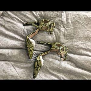 Shoes - Scrappy snakeskin heels